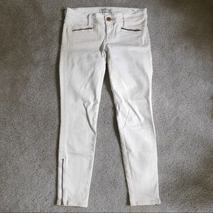 Express White Ankle Jeans Size 0 R